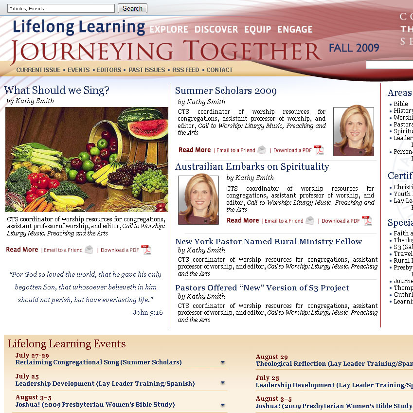 CTS Launches New Journeying Together Site