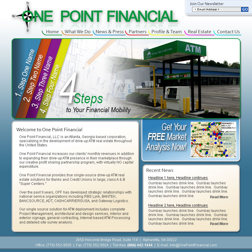 One Point Financial Website Launches
