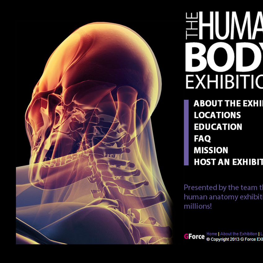 The Human Bodies Exhibition website launches